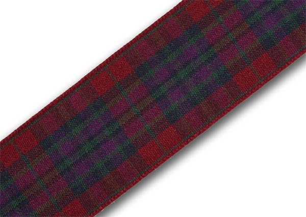 "Autumn Pride Tartan Ribbon 25mm (1"") x 5m (5½yd) top-up pack"