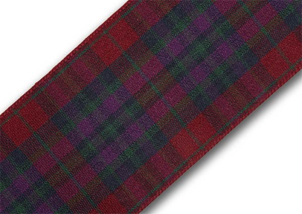 "Autumn Pride Tartan Ribbon 38mm (1½"") x 5m (5½yd) top-up pack"