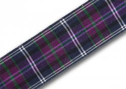 Pride of Scotland (alt.) Tartan Ribbon 25mm x 5m top-up pack