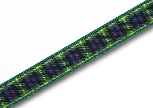 "Gordon Tartan Ribbon 10mm (3/8"") x 25m (27½yd)"