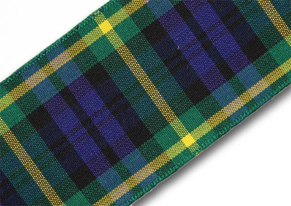 "Gordon Tartan Ribbon 38mm (1½"") x 25m (27½yd)"