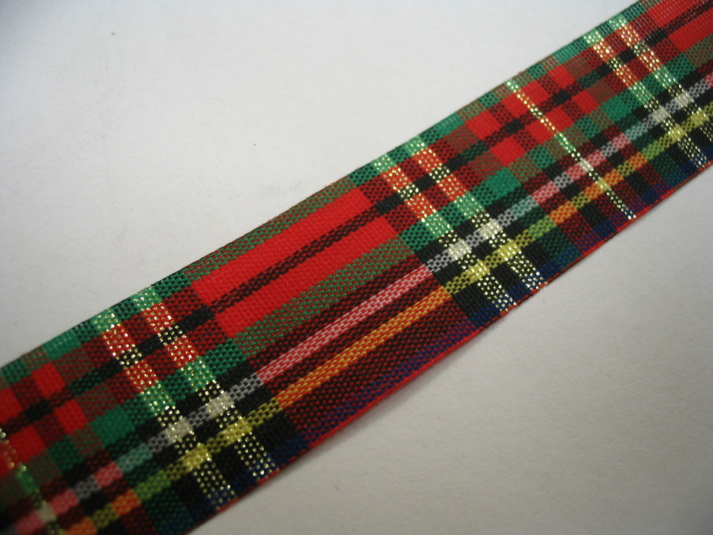 "MacKean Taffeta Tartan Ribbon 15mm (5/8"") x 5m top-up pack"