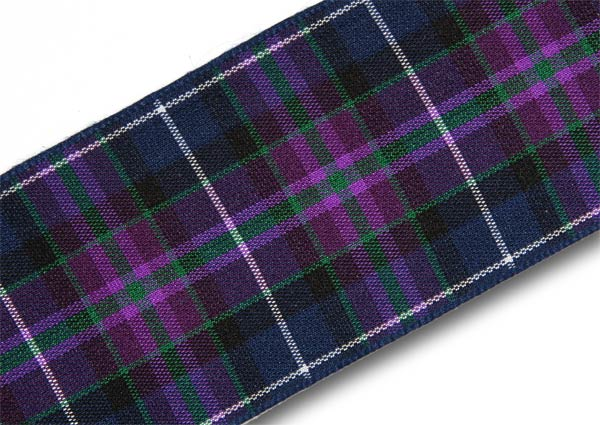 "Pride of Scotland Modern Tartan Ribbon 38mm (1½"") x 25m (27½yd)"