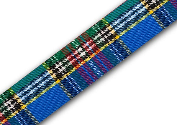 "MacBeth Taffeta Tartan Ribbon 36mm (1½"") x 5m top-up pack"