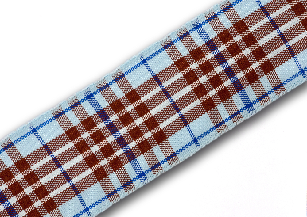 "Blueberry (Blue) Tartan Ribbon 25mm (1"") x 20m (22yd)"